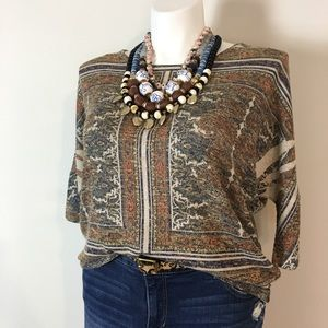 ⚡2/$25⚡Lightweight Patterned Sweater ~ Size L